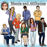Moods and Attitudes - Teen Clip Art