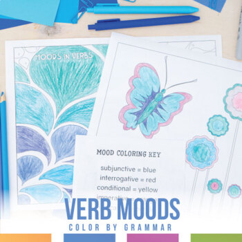 Moods in Verbs Coloring Sheet