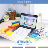Moods in Verbs Interactive Notebook Pieces and Scramble