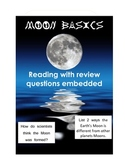 Moon Basics reading for nonfiction literacy with review questions embedded