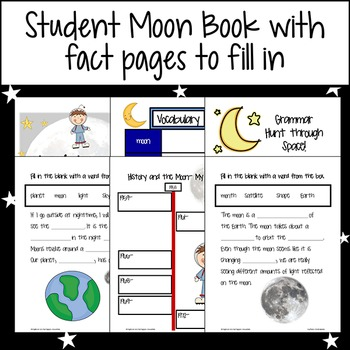 Moon Book with Science & Language Arts Printables and Graphic Organizers