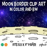 Moon Border Clipart | Moon Surface Space Clip Art