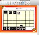 Moon Calendar - SmartBoard - FOSS 3rd Grade - Sun, Moon, and Stars