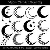 Moon Clip Art - Moon Silhouette Graphics