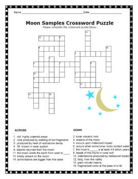 Moon Crossword Puzzle