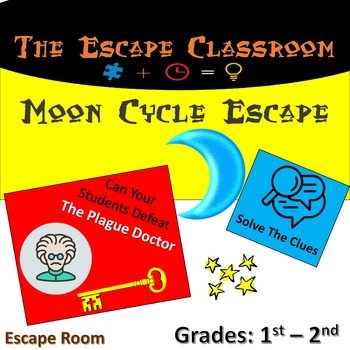 Moon Cycle Escape Room (1st - 2nd Grade)