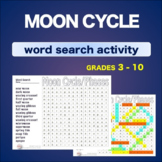 Moon Cycle Phases * WordSearch * Vocabulary* Warm Up * Bel