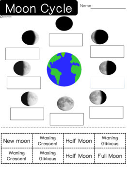 Moon Cycle worksheets