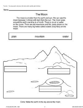 Moon, Earth, and Sun