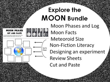Moon Fact and Phases Lesson Resources Bundle- PACKED!