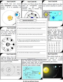 Moon Facts and Moon Phases Scavenger Hunt