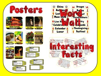 Moon Festival (Mid-Autumn Festival) Bundle Posters, Word Wall, Workbook