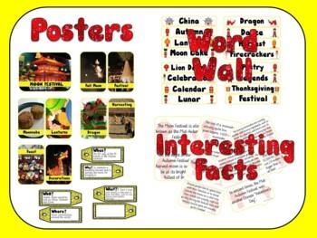 Moon Festival (Mid-Autumn Festival) Posters, Word Wall, Workbook