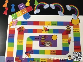 Moon Festival rainbow & umbrella board game English version