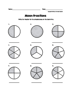 Moon Fractions Worksheet
