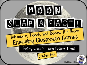 Moon Game: Moon Slap a Fact Games for Whole Group and Centers