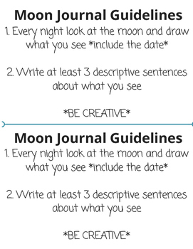 Moon Journal Guidelines