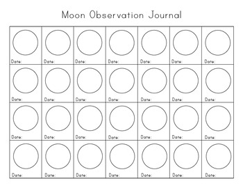 Moon Learning Printable Pack