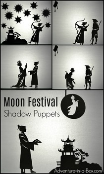 Moon Legend for Mid-Autumn Festival: Printable Shadow Puppet Set