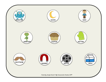 Moon Mission!!! Speech Therapy Cut + Paste Activity for Initial /M/