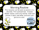 Moon Morning Routine Poster/Checklist