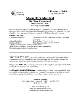 Moon Over Manifest Literature Guide
