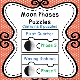Moon Phase Activity Puzzles for 8 Phases of the Moon Science Center