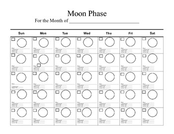 Moon Phase Blank Calender