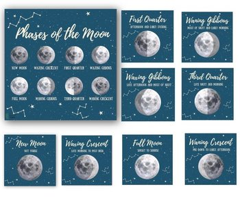Moon Phase Cards | Printable Moon Phase Cards  | Three Part Montessori Cards