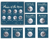 Moon Phase Cards | Printable Moon Phase Cards  | Three Par