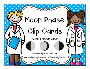 Moon Phase Clip Cards