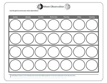 Moon Phase Collection Sheet Monthly Grid FREEBIE