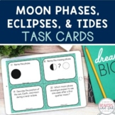 Moon Phases, Eclipses, and Tides Task Cards