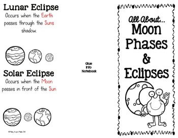 moon phase eclipses interactive notebook brochure by mixing it up in middle. Black Bedroom Furniture Sets. Home Design Ideas