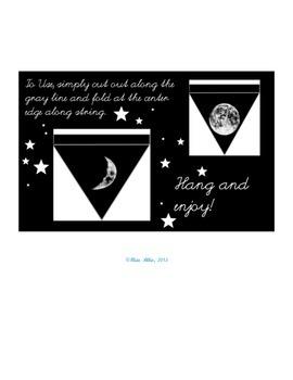 Moon Phase Flag Activity