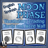Moon Phase Flashcards and Word Wall