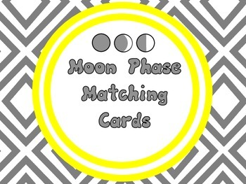 Moon Phase Matching, Memory or Sorting Cards {Hands On}