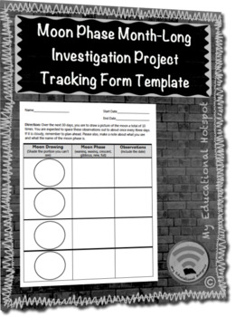 Moon Phase Month-Long Investigation Project Tracking Form