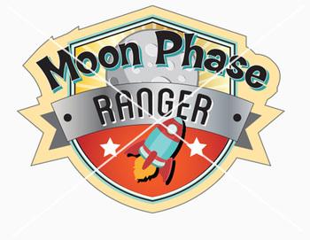 Moon Phase Ranger Poster and Badges - Worksheet - Pencil Rockets - 300 DPI PDF