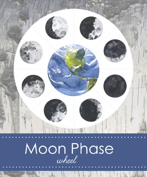 Moon Phase Wheel for Tracking- Montessori Inspired Materials