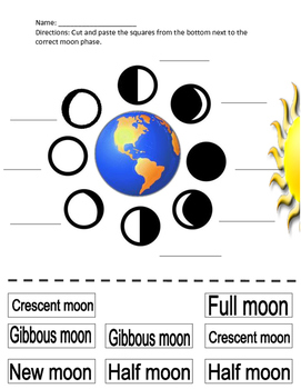 Cut and Paste the Moon Phases