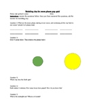Moon Phase pop quiz with modeling clay