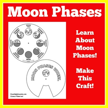 Moon Phases Craft | Moon Phases Activity | Moon Activities