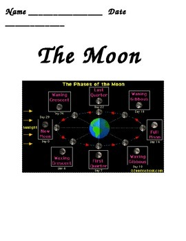 Moon Phases BUNDLE 4th Grade Science