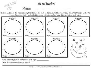 Moon Phases 7 Night Tracker