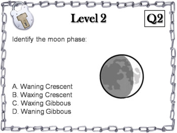 Moon Phases Activity: Escape Room - Science (Astronomy Unit: Lunar Cycle)