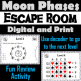 Moon Phases Activity: Space Science Escape Room Astronomy (Lunar Cycle Unit)