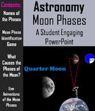 Phases of the Moon PowerPoint (Space Science/ Astronomy Unit - Lunar Cycle)