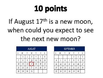 Moon Phases Bazinga Game