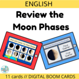 Boom cards Moon Phases for Distance Learning